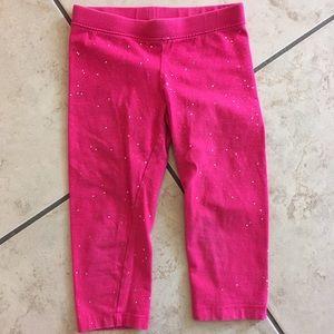 $5 item 🎉 Pink glitter Capri leggings